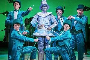 Sam Harrison (Tin Man) in a scene from The Wizard of Oz at Leeds Playhouse. Photo: The Other Richard