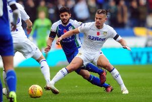 Kalvin Phillips, who has stepped up in defence in recent weeks for Leeds United.