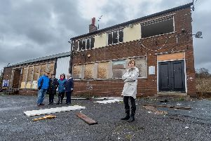 A number of residents living along Kentmere Avenue, Seacroft, Leeds, are complaining about condition of the former Gate Inn. The building is been vandalised most night by groups of youths who are smashing windows, throwing door out of the property, alleged drug taking and riding motorbikes on the forecourt. Pictured (left to right) Terry, and Penny Took, Cathy Bell, Virginia Aicken, and Vincentsia Ford.