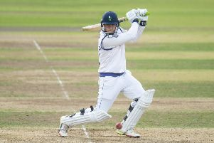 Yorkshire's Tom Kohler-Cadmore hits out. Picture by Allan McKenzie/SWpix.com
