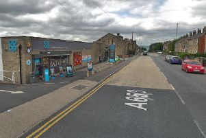 The incident occured close to the Co-op food store on Leeds Road.