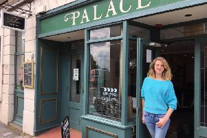 Lara Hewitt outside The Palace in Longridge
