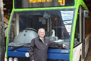 Jimmy says farewell after a life on the buses.
