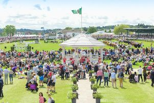 The Bandstand and main ring at the Great Yorkshire Show.