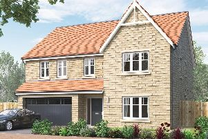 CGI image showing the exterior of the five bedroom Kirkham house at Avant Homes development, The Lanes