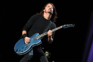Dave Grohl on stage with the Foo Fighters on his previous appearance at the Leeds Festival.