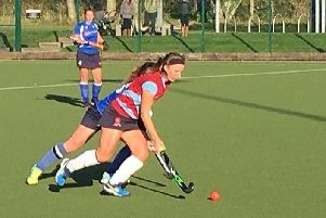Hayley Standeven-Johns in action for Lancaster Hockey Club.