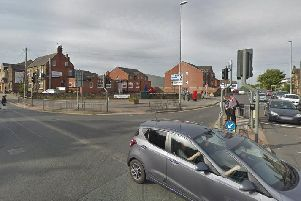The junction of Bruntcliffe Road and Howden Clough Road, where the assaults took place.