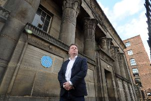 20 March 2019 ......   David Hodgson from CEG outside Temple Works in Holbeck, Leeds.  CEG Group acquired the building a year ago. The building has been high on the 'Heritage at Risk' programme run by Historic England for many years.   Picture Tony Johnson.