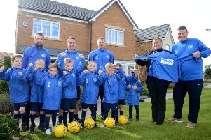 Burradon Juniors Under 7 have secured sponsorship from Miller Homes North East.