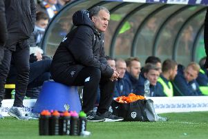 Leeds United boss Marcelo Bielsa, refusing to get carried away by his side's position in the league.