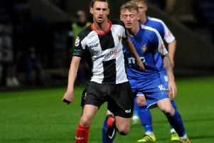 Dale Whitham in action for Chorley.