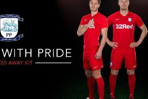 The controversial red kit which has been abandoned.