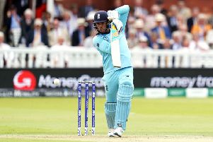 England's Jason Roy during the ICC World Cup Final at Lord's. Picture: John Walton/PA