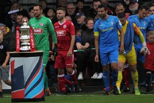 Longridge Town and Barnoldswick Town had the FA Cup for company in their extra preliminary round meeting last Saturday