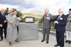 HRH the Prince of Wales officially opens The Sill accompanied by the Duchess of Northumberland with, from left, Ivor Crowther, Heritage Lottery Fund North East and Tony Gates and Glen Sanderson, Northumberland National Park Authority.