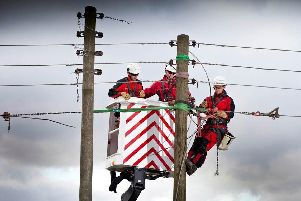 Northern Powergrid engineers working to restore electricity.