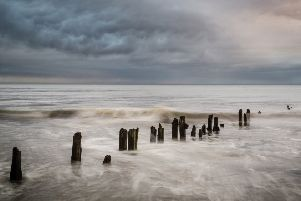 Eroded groynes at Sandsend, North Yorkshire. Picture by Tony Worobiec.