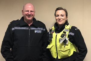 PC Peter Burns and  PCSO Holly Went
