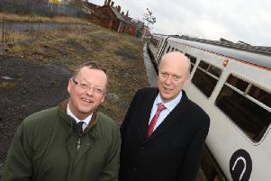 Council leader Peter Jackson and Transport Secretary Chris Grayling.