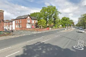 Garstang Road at its junction with Ripon Street in Preston