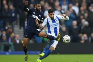 Ashley Cole in action at Brighton on Saturday.