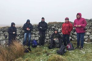 Hardy members of Morpeth Footpaths Society on their recent walk at Alnham.