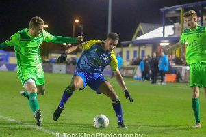 Action from the last time Town faced Solihull. Picture: Tom King Photography