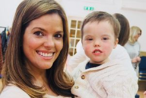 Kate Long and her son Harry.