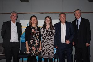 From left, Professor David Manning, Emma Bridge, Sarah Robinson, Nick Brown MP and Roger Middleton.