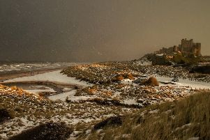 Alan Forrest was the winner with his moody winter scene of Bamburgh Castle.