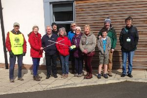 The meeting place for the first litter blitz was St Aidan's Church in Stobhill.
