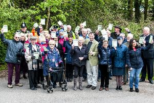 Those in attendance at Ponteland Community Partnership's bridleway celebration event. Picture by Keith Robertson.