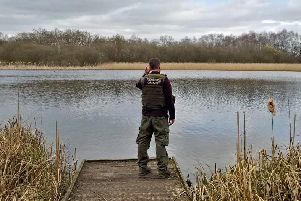 A fisheries enforcement officer on patrol.