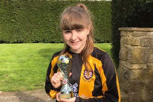 Emily Pattison played for a Morpeth Town Juniors girls' football team.