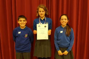 From left, Ben Milligan, Izzy Ellerbrook and Eva Clarke.