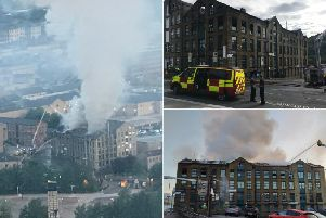 The fire in Halifax town centre