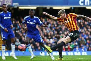 Jon Stead sparked the most unlikely of comebacks when he netted in Bradford Citys 4-2 FA Cup victory over Chelsea at Stamford Bridge. Picture: Getty Images