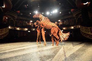 War Horse Joey on stage at Sunderland Empire.