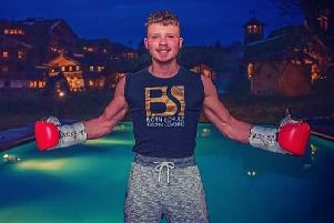 Earby boxer Josh Holmes at the famous Stanglwirt hotel in Austria