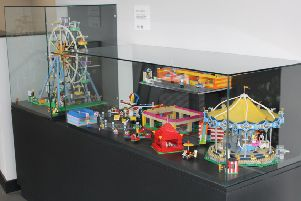 The Lego funfair made by students from John Spence Community High School now on display at the Spanish City, in Whitley Bay.