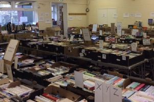 Some of the books at Whitley Bay and District Scouts' annual book sale.