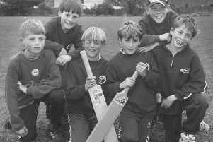In May 1997, Hinderwell School took part in a quick cricket tournament - the B team are pictured, from left, Dale Cammish, Nicholas Gough, Sam Hyde, Danny Watson, Danny Robinson and Luke Ridgley.