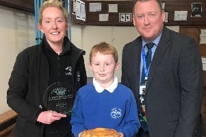 Bryant, aged 8, was the winner of the pie competition.
