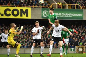 Watch Paddy McNair's stunning miss for Northern Ireland