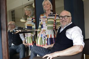 Fiona and Peter Anderson at their salon in Monkseaton. Picture by Jane Coltman