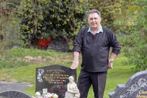 Colin Willock is concerned that tents have been put up in Pontefract Cemetery near to his wife's grave. Picture Scott Merrylees