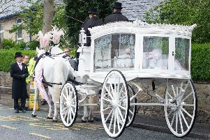 Padiham came together today for the funeral of Tia Taggart who has died at the age of 10.