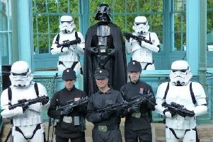Darth Vader and the Stormtroopers will be at Sunday's Weston Park Show