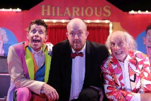 Danny Adams, Mick Potts and their dad Clive Webb are bringing Cirque Du Hilarious back to Tynemouth this summer. Picture by RusbyMedia